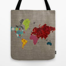 Simi's Map of the World Tote Bag