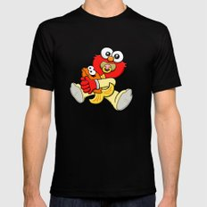 Baby Elmo & Dorothy SMALL Black Mens Fitted Tee