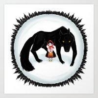 Little Red Riding Hood A… Art Print