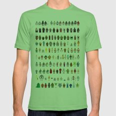 Pixel Wars Mens Fitted Tee Grass SMALL