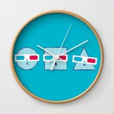 3D Shapes Wall Clock
