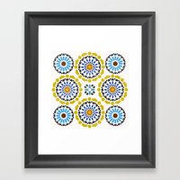 Moroccan Pattern Framed Art Print