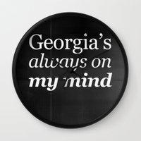 Georgia's always on my mind Wall Clock