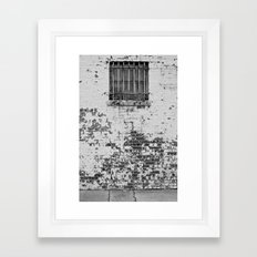 All in all its just another brick in the wall... Framed Art Print