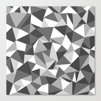 Abstraction Black And Wh… Canvas Print
