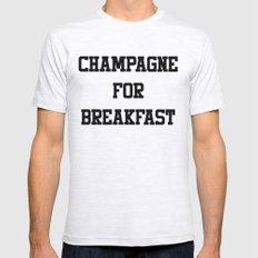 Champagne For Breakfast Mens Fitted Tee Ash Grey SMALL