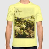 Flowers in the Sun Mens Fitted Tee Lemon SMALL