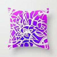 Pink & Purple Love Throw Pillow