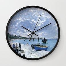 Claude Monet : Regatta at Sainte-Adresse / The Beach at Sainte Adresse Wall Clock