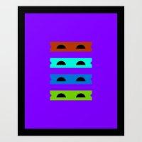Teenage Minimal Ninja Tu… Art Print