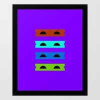 Teenage Minimal Ninja Turtles Art Print