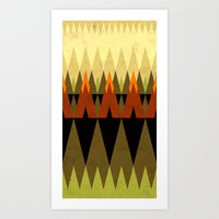 living in the woods Art Print