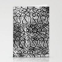 Digital Monoprint Pattern Print. Stationery Cards