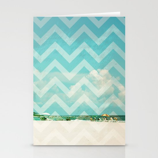 Chevron Beach Dreams Stationery Card