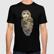 Northern Spotted Owl. Mens Fitted Tee SMALL Black