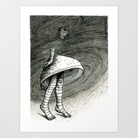 The Spins Art Print