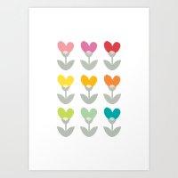 Heart petals Art Print