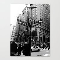 E 45th St & Madison Ave,… Canvas Print