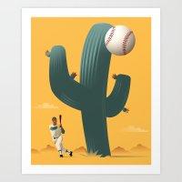 Cactus League Art Print