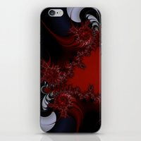 red blue and silver spurs iPhone & iPod Skin