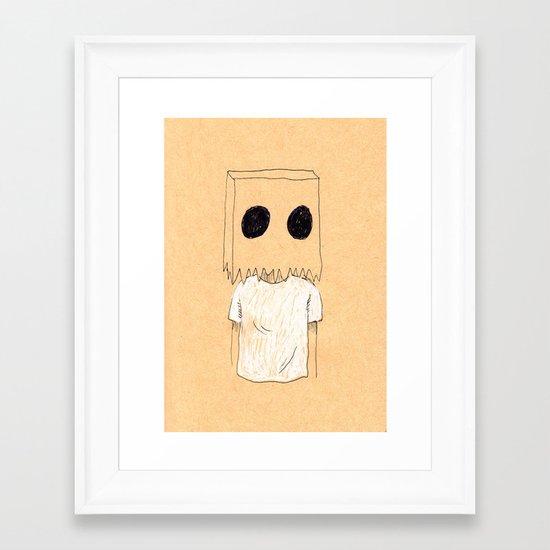 Paper Bag Boy Framed Art Print