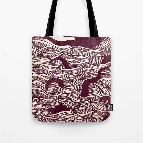 Octopus The Rising Sun II Tote Bag