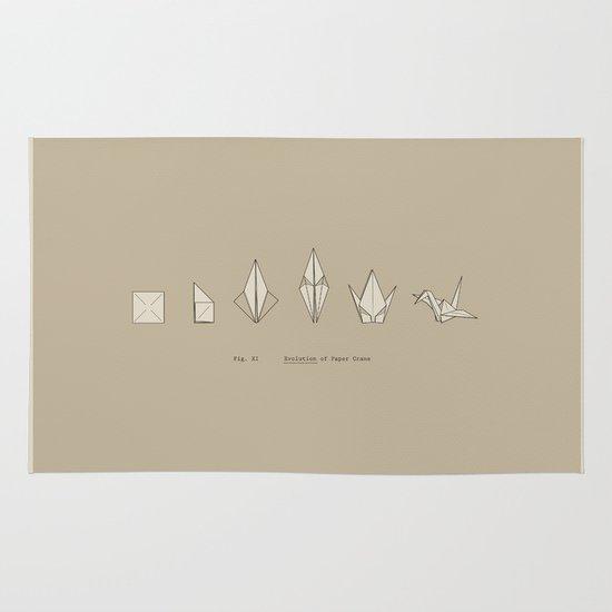 Evolution of Paper Crane Area & Throw Rug