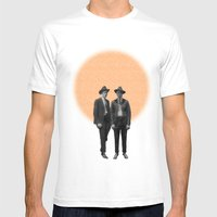 Two Brothers Mens Fitted Tee White SMALL