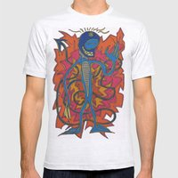 Auspicious Minds Mens Fitted Tee Ash Grey SMALL