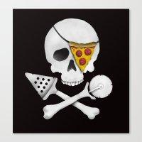 Pizza Raider Canvas Print