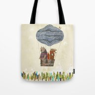 Mr Fox And Bears Wondrou… Tote Bag