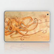Octopus Drinking Tea Laptop & iPad Skin