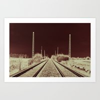 Dawn of the Rails Art Print