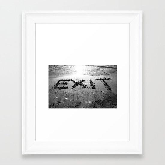Exit Loss Framed Art Print