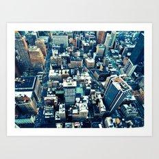 NEW YORK//OVERHEAD Art Print
