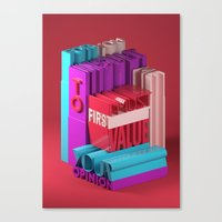 Typographic Insults #8 Canvas Print