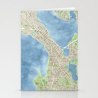 City Map Madison Wiscons… Stationery Cards