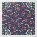 Elegant Guns Knives and Roses Canvas Print