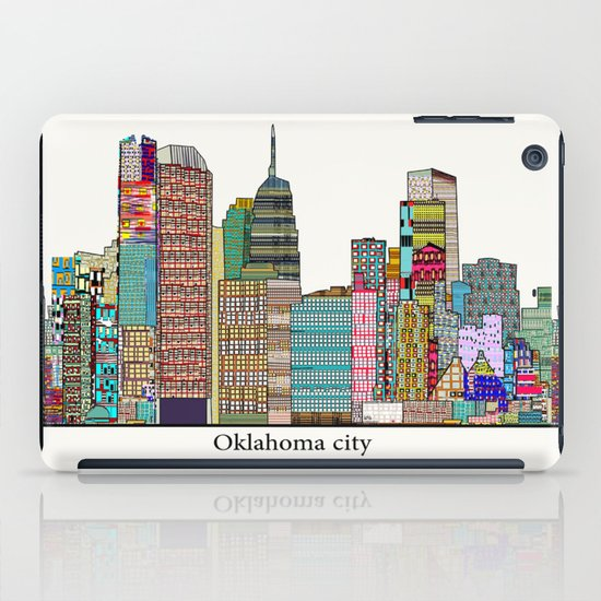 oklahoma city skyline iPad Case