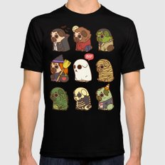 Puglie Halloween SMALL Black Mens Fitted Tee