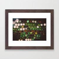 Bottled Wall Framed Art Print