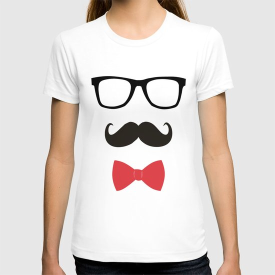 STAY CLASSY - MUSTACHE & BOW TIE  T-shirt
