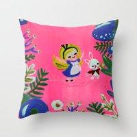 Alice Fan Art Throw Pillow