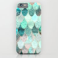 mermaid iPhone & iPod Cases featuring SUMMER MERMAID by Monika Strigel