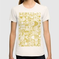 Golden Doodle squares Womens Fitted Tee Natural SMALL