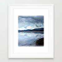 Shallow Lake Framed Art Print
