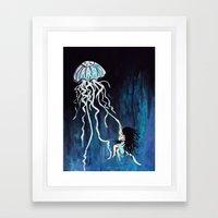 Fall Down, Never Get Bac… Framed Art Print