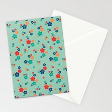 blossom ditsy in grayed jade Stationery Cards