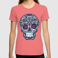 Calavera IV Womens Fitted Tee Pomegranate SMALL