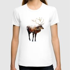 Arctic Deer Womens Fitted Tee White SMALL